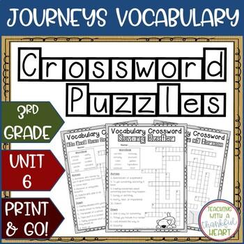 Grade Six Vocabulary Crossword Worksheets Teaching