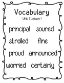 Journeys Third Grade Vocabulary Posters