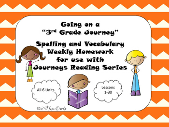 Journeys Third Grade Weekly Homework and Vocabulary Skills Lessons 1-30
