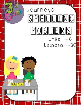 Journeys Third Grade Weekly Spelling Posters