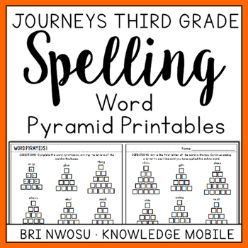 Journeys Third Grade - Word Pyramid Printables