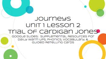 Journeys: Trial of Cardigan Jones - Supplemental Materials Via Google Slides