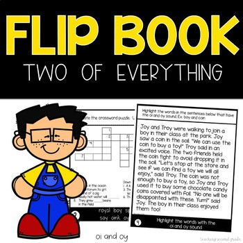 Journeys Two of Everything   Dipthongs oi and oy   Phonics Flip Book