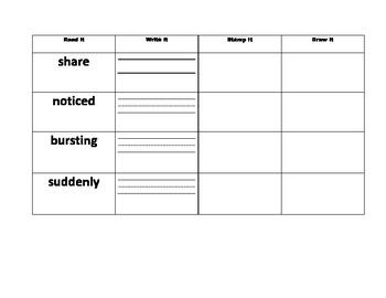 Journeys Unit 1 2nd Grade Vocabulary Practice