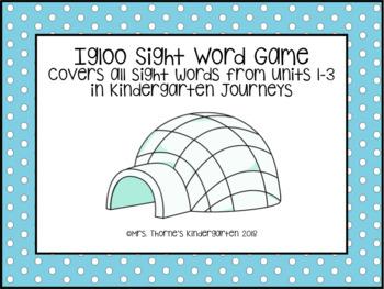 Journeys Unit 1-3 Igloo Sight Word Game