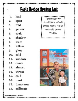 Journeys Unit 1, 3rd Grade Spelling Lists