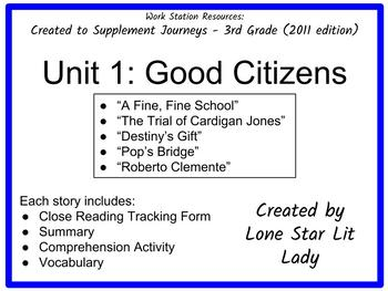 Journeys Unit 1 - 3rd Grade (Supplemental Materials)