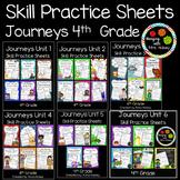 Journeys Unit 1-6 Bundle (Fourth Grade): Skill Practice Sheets
