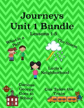 Journeys Unit 1 Bundle Tic Tac Toe Activities