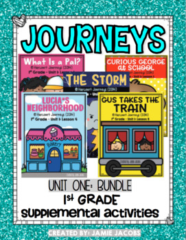 Journeys Unit 1 Bundle - First Grade Supplemental Materials