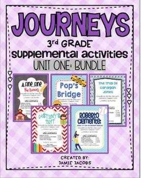 Journeys Unit 1 Bundle - Third Grade Supplemental Materials