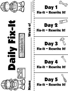 Journeys Unit 1 Daily Fix-It Foldables & Centers - 1st Grade