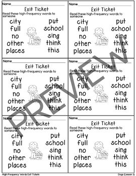 Journeys-Unit 1 Exit Tickets Bundle