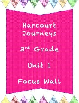 Journey's Unit 1 (Story 1) Grade 3 Focus Wall