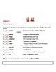Journeys Unit 1 Less 1 Vocab list and  test  for the School Story