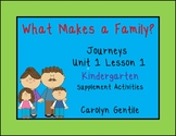 What Makes a Family? Journeys Unit 1 Lesson 1 Kindergarten