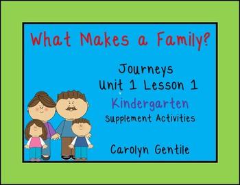 Journeys Unit 1 Lesson 1 Kindergarten  What Makes a Family?