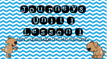 Journeys Unit 1 Lesson 1 Vocabulary Introduction Powerpoint