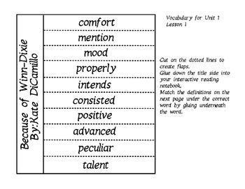 Journeys Unit 1 Lesson 1 Vocabulary