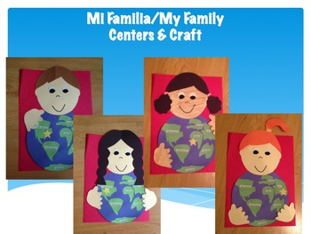 Mi Familia, My Family (Journeys Second Grade Unit 1 Lesson 2 Centers)