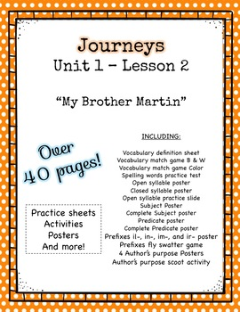 Journeys Unit 1 Lesson 2 My Brother Martin