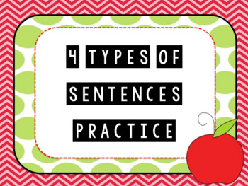 "Journeys Unit 1 Lesson 3 ""4 types of sentences"" Practice"