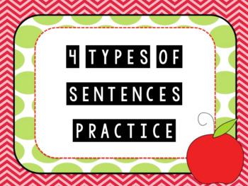 """Journeys Unit 1 Lesson 3 """"4 types of sentences"""" Practice"""