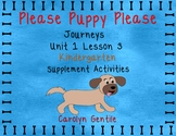 Please Puppy Please Journeys Unit 1 Lesson 3 Kindergarten