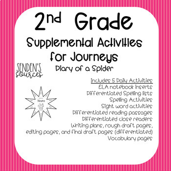 Journeys Unit 1 Lesson 4 A Dairy of a Spider Differentiated Supplemental Fun