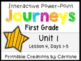 Journeys Unit 1 Lesson 4 Interactive Power Point, First Grade