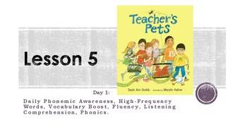 Teacher's Pet Journeys Unit 1- Lesson 5: Day 1 Second Grade