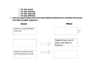 Journeys Unit 1, Lesson 5 FSA Style Test for Roberto Clemente