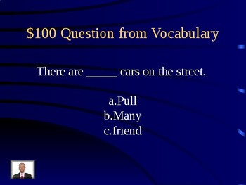 Journeys Unit 1 Lesson 5 Gus Takes the Train Jeopardy Review