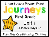Journeys Unit 1 Lesson 5 Interactive Power Point, First Grade