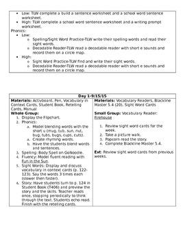 Journeys Unit 1 Lesson 5 Lesson Plan