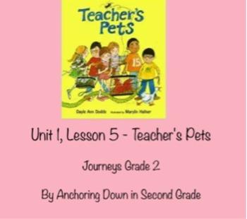 Journeys Unit 1, Lesson 5 Teacher's Pets Smartboard Interactive Activities