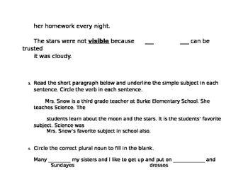 Journeys Unit 1, Lesson 6 FSA Style Test for Bat Loves the Night