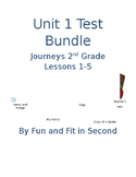 Journeys Lessons 1-5 Test Bundle