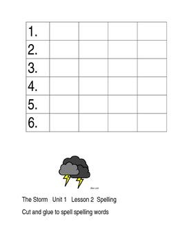 Journeys Unit 1  Spelling  Lessons 1-5