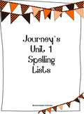 Journey's Unit 1 Spelling Lists - 5th Grade