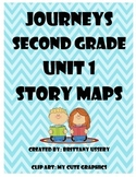 Journeys 2nd grade - Unit 1 - Story Maps & Graphic Organizers