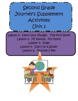 Journey's Unit 1--Supplement Activities-2nd Grade