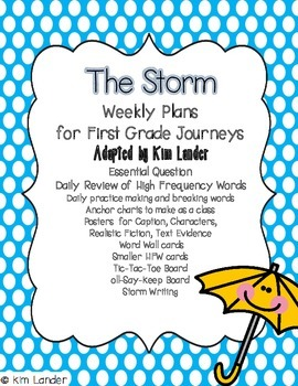 Journeys Unit 1 Supplemental Materials and Lesson Plans for First Grade