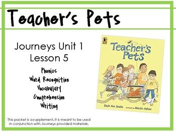 Journeys Unit 1: Teacher's Pets [Supplemental Resource]