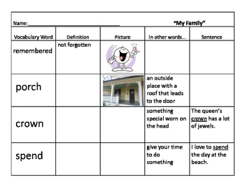 Journeys Unit 1 Vocabulary Bundle