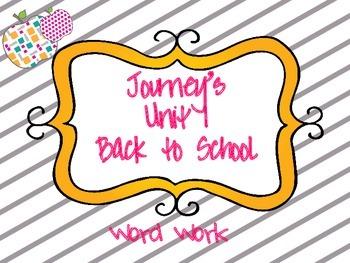 Journeys Unit 1 Word Work