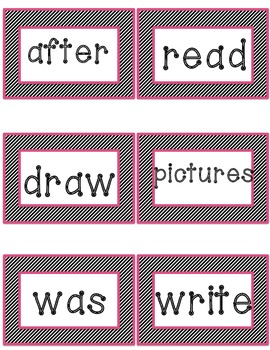 First Grade Journeys Unit 1 and 2 Word Wall Cards - High Frequency Words