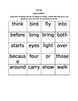 Journeys Unit 16 Flashcards (Words to Know)