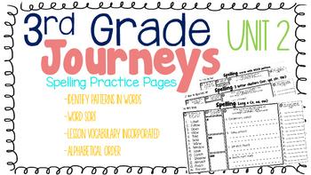 Journeys: Unit 2 3rd Grade Spelling Practice