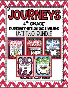 Journeys Unit 2 Bundle - Fourth Grade Supplemental Materials
